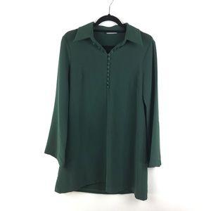 Zara Woman Flared Sleeve Swing dress Green Sz L 15